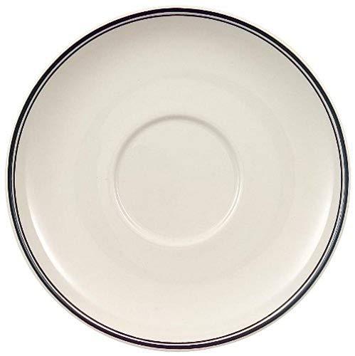 Villeroy & Boch Design Naif Sous-tasse à Mokka-/expresso, 12 cm, Porcelaine Premium, Blanc/Noir