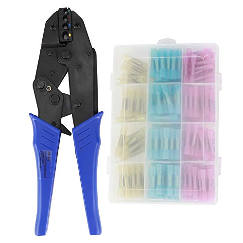 ChichuangK Waterproof Pre- Insulated Wire Crimper Tool Ratchet Wire Cable Crimper Plier Electrician Tools