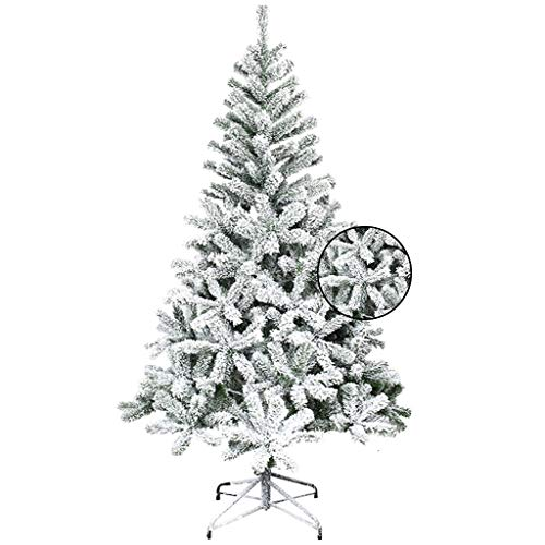 Tree Stands Encryption Plus Snow Flocking Snowflake Artificial Christmas Tree Branches-with Metal Frame Decoration Christmas Home Decoration (Color : Green, Size : 210cm(82.6inches))