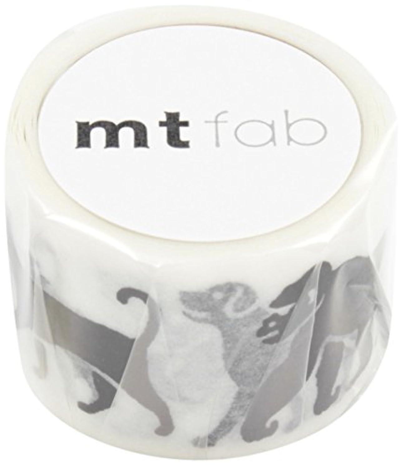 MT Washi Screen Print Masking Tape, Black Animals, 26mm x 3m (MTSC1P04)