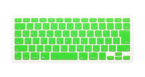 Japanese English Japan JP Keyboard Cover For Macbook Air Pro Retina 13 15 17 Protector For MacBook keyboard-Green
