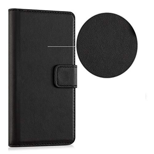 Funda para Alcatel One Touch Pop 3 Compatible Xiaomi Redmi Note 9 / Redmi 10X Funda Cover Case Stand Flip Libro Gel Silicona Protección eco Piel Cartera Magnética Porta Tarjetas (negro)