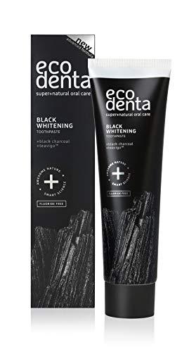 Ecodenta Aktivkohle Zahnpasta Ohne Fluorid I Schwarze Kohle Zahncreme Zahnaufhellung I Black Activated Charcoal Teeth Whitening Toothpaste 100ml