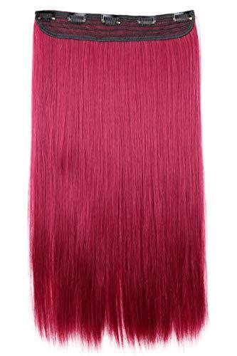 PRETTYSHOP 60cm Clip In Extensions Haarverlängerung Haarteil Glatt Burgunderrot C60a