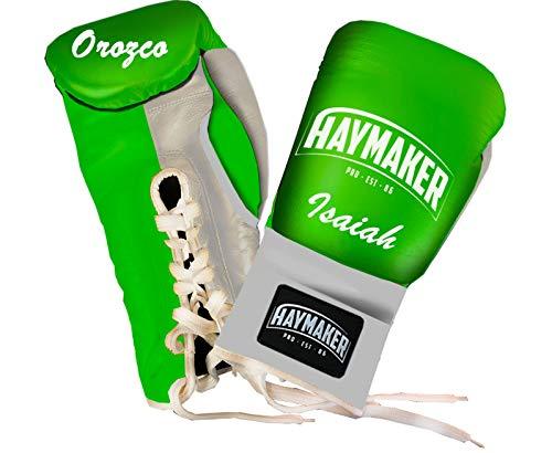 HAYMAKER guantes de boxeo personalizados, cuero genuino entrenamiento guantes de boxeo, guantes...
