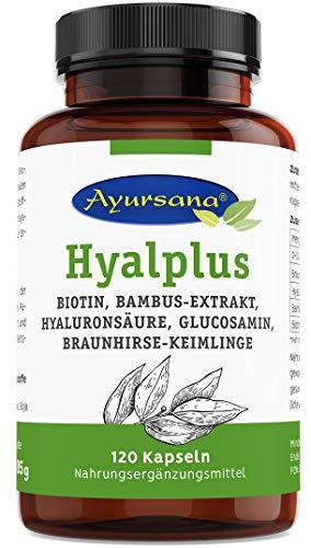 Haar-Vitamine | Hochdosiert mit Biotin, D-Glucosamin, Hyaluronsäure, Bambus-Extrakt und fermentierter Braunhirse | Hyaluronsäure aus Fermentation gewonnen, tierfrei | Zur Erhaltung normaler Haut und Haare und für einen normalen Stoffwechsel von Makro