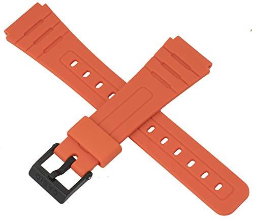 Casio 10361904 - Correa de Reloj para F-91WC-4A2 F 91WC F 91W 91, Color Naranja