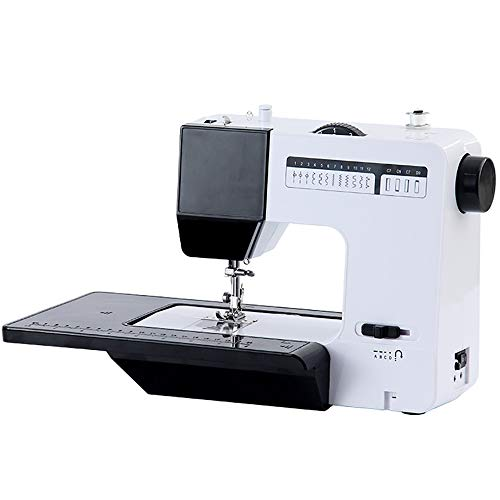 ZHHAOXINPA lichte multifunctionele naaimachine, 16 steken naaimachines, perfect voor gevorderden en beginners klassiek, zwart
