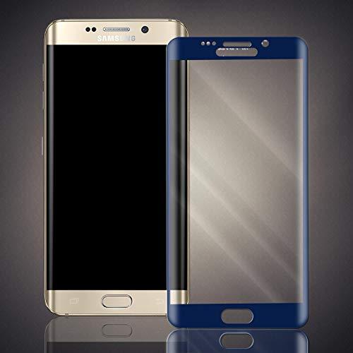 numerva Panzerfolie kompatibel mit Samsung Galaxy S6 Edge Panzerglas [gebogen, Vollständige Abdeckung] Schutzfolie [Blau]