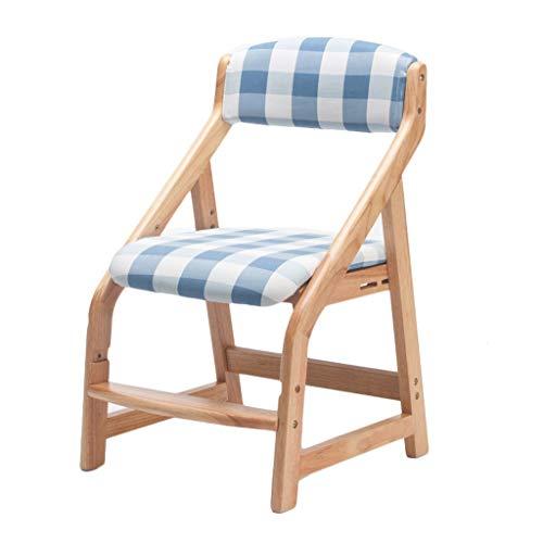 Dining chair Silla de estudio para niños, resistente, de madera maciza, elevable, para el hogar, escritorio, estudio, silla de escritorio estable (color: D)
