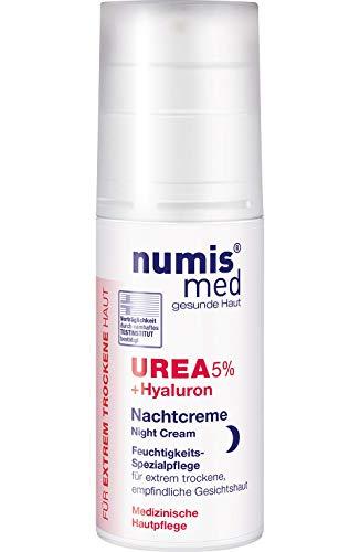 numis med Nachtcreme mit 5% Urea & Hyaluronsäure - Gesichtspflege frei von allergenen Duftstoffen - Gesichtscreme für sensible, zu Neurodermitis neigende Haut - Gesicht Creme (1x 50 ml)