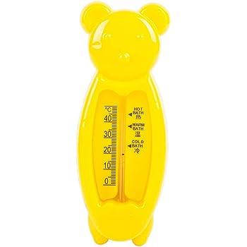 BASSK Thermom/ètre de bain pour b/éb/é plastique mesure de la temp/érature de leau baignoire salle de bains testeur de douche nouveau-n/é s/écurit/é