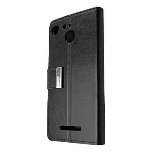 caseroxx Handy Hülle Tasche kompatibel mit Archos 50B Cobalt / 50B Cobalt Lite Bookstyle-Hülle Wallet Hülle in schwarz