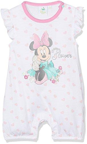 Disney Minnie 78384, Body Baby Mädchen, weiß (Rose blau), 2Jahre (Größe Hersteller: 24Monate)