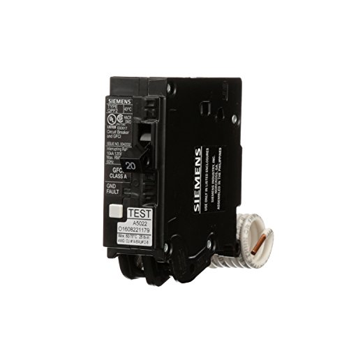 Siemens QF120A Ground Fault Circuit Interrupter, 20 Amp, 1 Pole, 120 Volt, 10,000 AIC