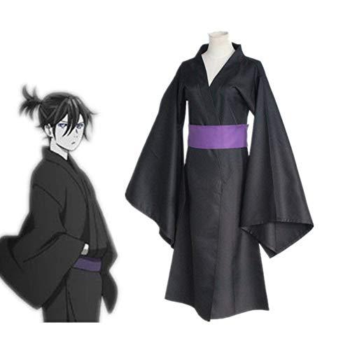 CGBF -Noragami Yato - Disfraz de anime para cosplay (kimono), color negro