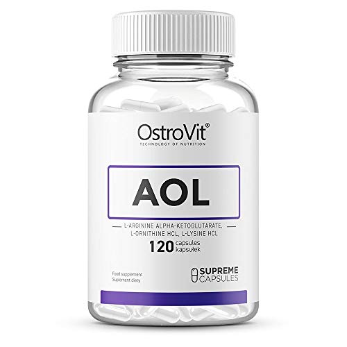 OstroVit Supreme Capsules AOL 120 caps - Amino acids - Accelerates Post-Workout Regeneration - Improves Sleep Quality - Increase Muscle Anabolism