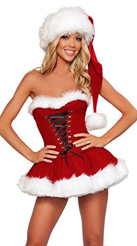 Miss Costume Da Babbo Natale Donna Babbo Natale Fancy Dress Accessori opzionali