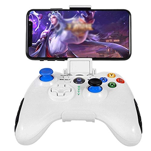 QCHEA Controladores de Gamepad, Eat Chicken Game Artifact Shootout Game Artifact Bluetooth Handle Wireless Mobile (Color : White)