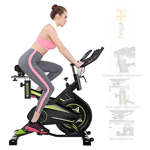 LJYY Bicicleta de Ejercicios de Control magnético Ultra silenciosa, Bicicleta de Spinning para Interiores con Soporte multifunción, Equipo de Ejercicio de pérdida de Peso de plástico doméstico co