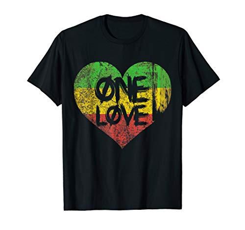 Ankh One Love One Heart Rastafari Peace T-Shirt