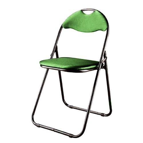 Haku-Möbel Klappstuhl 6 Stück, aus schwarzem Stahlrohr mit grünem PVC-Sitz