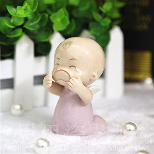 VBNHGF Head Sculptures Busts Ceramic Doll Boy Girls Baby Angel Figurines Home Decor Crafts Children S Room Decoration Handicraft Figurine Wedding Decoration