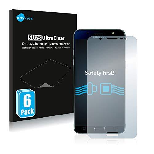 savvies 6-Pezzi Pellicola Protettiva Compatibile con Samsung Galaxy J5 2016   Duos 2016 Protezione Schermo Trasparente