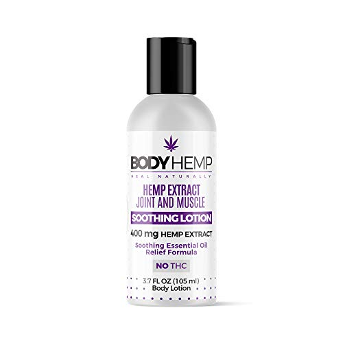 Body Hemp Soothing Joint and Muscle Lotion | All Natural Hemp Infused Lotion | Body and Skin Revitalization Within Minutes | 400MG All Natural Hemp Extract | Hemp Lotion Made in The USA