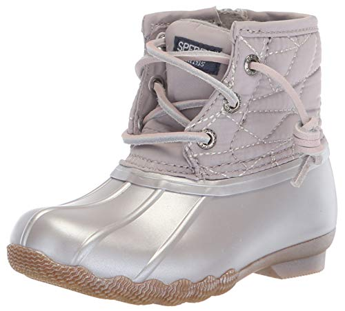 Sperry Girls' Saltwater Boot Sneaker, Gull Grey, 9 Medium US Toddler