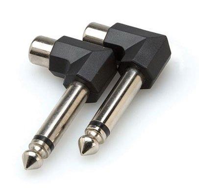 Hosa GPR123 Winkelstecker Adapter Klinke-6,3mm TS (2-Stück)