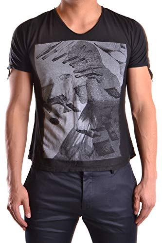 TOM REBL Luxury Fashion Mens MCBI23541 Black T-Shirt | Season Outlet