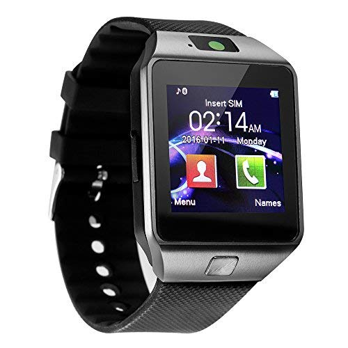 kxcd Bluetooth Smart Watch dz09 Smartwatch GSM SIM Karte mit Kamera für Android iOS (Schwarz)