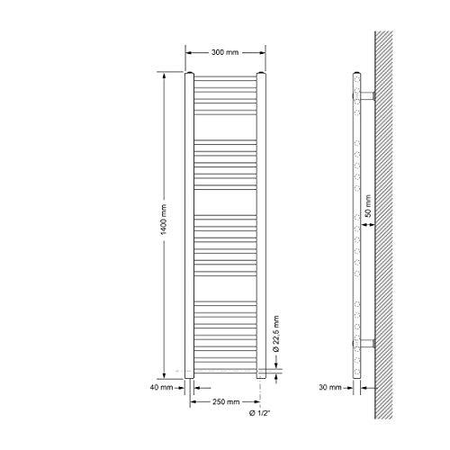 ECD Germany Bhz Sahara 300*1400 Weiß ge+Se 900W