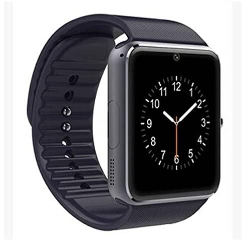 Dama Fitness Tracker Bluetooth podómetro negro GT08 reloj inteligente smartwatch para teléfono iPhone Samsung HTC Xiaomi Huawei