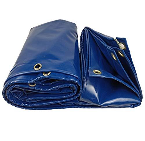 TRNCEE blauw dekzeil, zeer sterke zijde + PVC gecoate auto waterdicht zonnecrème camping bloem beschermhoes 2x3m (6.5ft x 10ft)