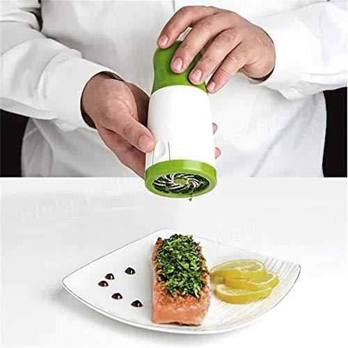 QLJJ Mühle Grinder Gewürzkräutermühle Grinder Cutter, Gemüse, Obst Shredder Küche kochendes Werkzeug Küchenmaschine Küchenzubehör (Color : Green, Size : 17x6x7.3cm)