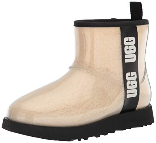 UGG Classic Clear Mini Boot, Natural / Black, Size 7