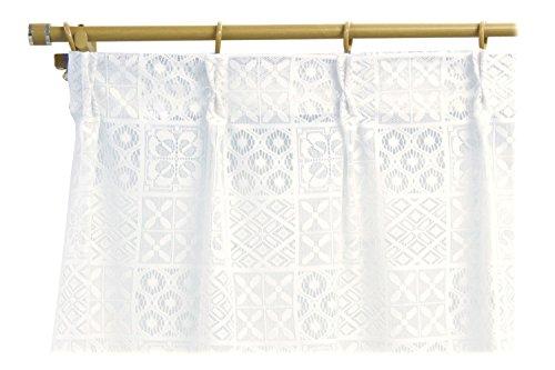 北欧風デザイン レースカーテン2枚組 100×183サイズ [3575]