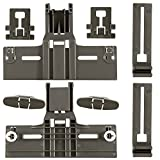Packs of 8 UPGRADED W10350376(2) W10195840(2) W10195839(2) W10508950(2),Dishwasher Top Rack Adjuster for kenmore elite kitchenaid whirlpool Kitchen Aid,W/ 0.9 In Diameter Wheels.Replacement w10350374