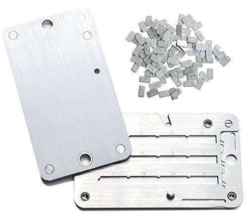 Cryptovaluta, portafoglio in acciaio, indistruttibile, compatibile con Ledger Nano S, Trezor e KeepKey portafoglio