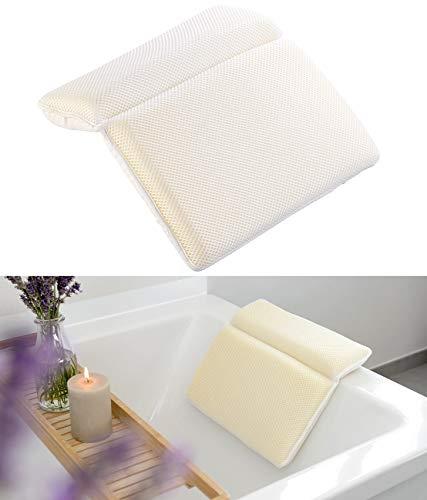 newgen medicals Almohadas de baño: Cojines de baño de espuma con funda transpirable (Bañeras Almohada de cuello)
