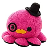 10cm Cute Octopus Plush Toy Soft Stuffed Animal Doll Xmas Christmas Birthday Valentine Gift (Hot Pink)