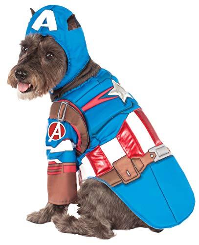 Rubie's Avengers Assemble Deluxe Captain America Pet Costume, Small