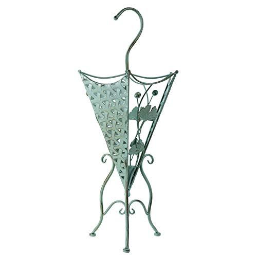 Metal Umbrella Stand, Entryway Flower Design Freestanding Holder Organizer, for Canes, Walking Sticks Umbrella Racks (Color : Green)