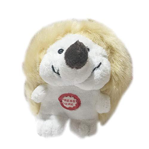 BASSK Niedliches kleines Igel mit Comic-Motiv für Haushund, Squeakspielzeug, Plüsch, interaktiv