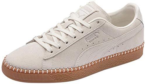 PUMA Unisex-Erwachsene Suede Classic Blanket Stitch Sneaker, Beige (Whisper White-Gum 3), 42 EU