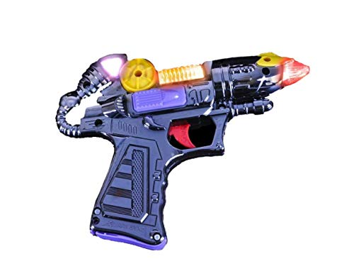 Toy Blaster Gun, Flashing Lights and Really Cool Sound Effects! Perfect for A Little Space Cowboy. Batteries Included