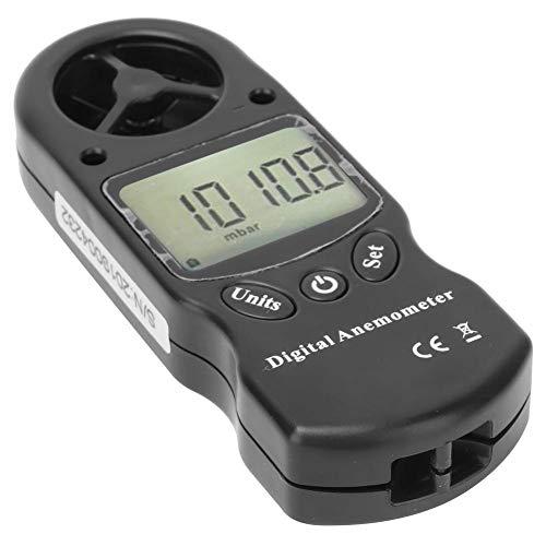 Oumefar Termómetro Medidor de Velocidad del Viento Anemómetro Digital de múltiples Funciones para Exterior Interior para enfriamiento del Viento