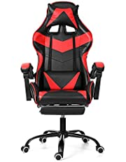 Gaming Chair Bureaustoel Computerstoel Leer Executive Ergonomische Verstelbare Draaistoel met Voetsteun